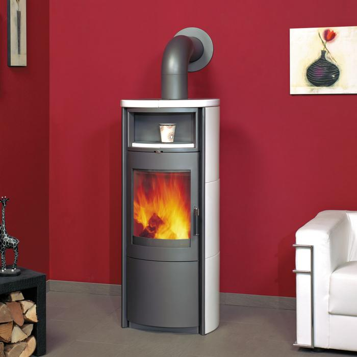 hark kaminofen nika 7kw creme wei kamin fen. Black Bedroom Furniture Sets. Home Design Ideas