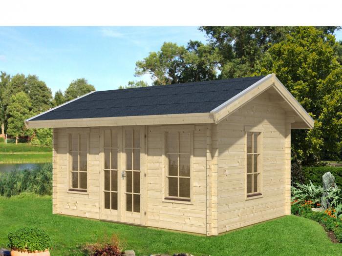 skanholz blockbohlenhaus lugano 1 f r dachschindeln vorbereitet gartenh user. Black Bedroom Furniture Sets. Home Design Ideas
