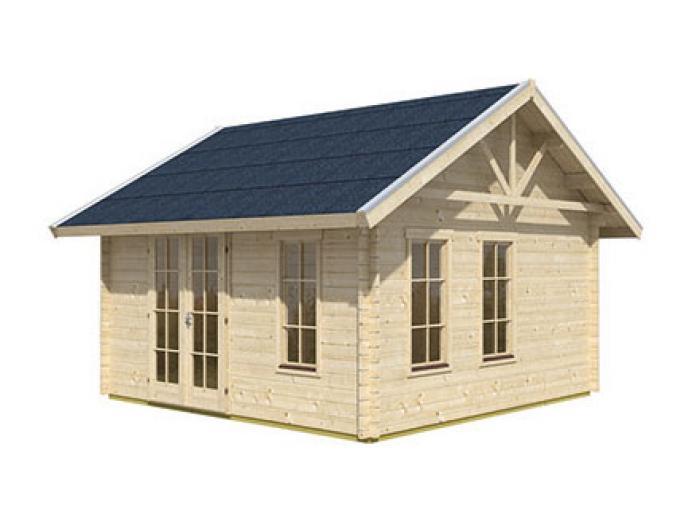 skanholz blockbohlenhaus toronto 1 f r dachschindeln vorbereitet gartenh user. Black Bedroom Furniture Sets. Home Design Ideas