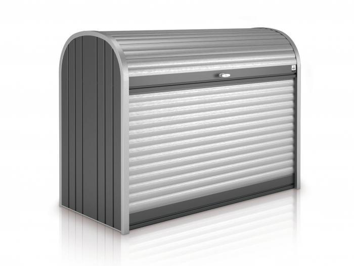 storemax 190 dunkelgrau metallic gartenh user. Black Bedroom Furniture Sets. Home Design Ideas