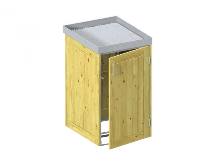 binto m lltonnenbox nadelholz mit pflanzschale m lltonnenboxen. Black Bedroom Furniture Sets. Home Design Ideas