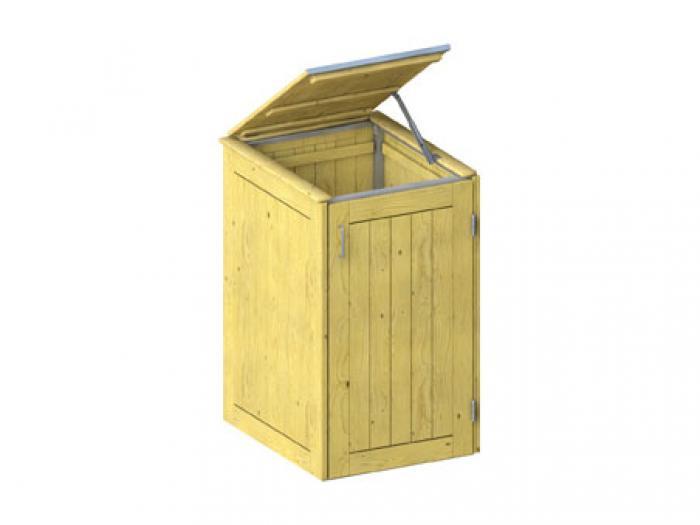 binto m lltonnenbox nadelholz druckimpr gniert mit klappdeckel ebay. Black Bedroom Furniture Sets. Home Design Ideas