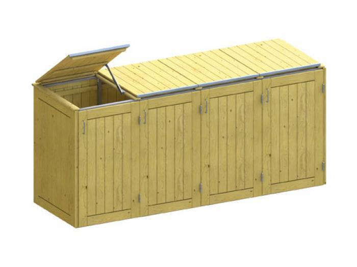 m lltonnenboxen traumgarten binto nadelholz m lltonnenbox. Black Bedroom Furniture Sets. Home Design Ideas