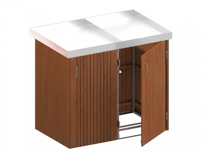 binto 2er m lltonnenbox hartholz mit edelstahl pflanzschalen von traumgarten ebay. Black Bedroom Furniture Sets. Home Design Ideas