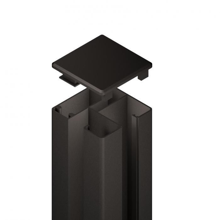 system wpc eck pfosten vario f r den erdverbau anthrazit pictures to pin on pinterest. Black Bedroom Furniture Sets. Home Design Ideas