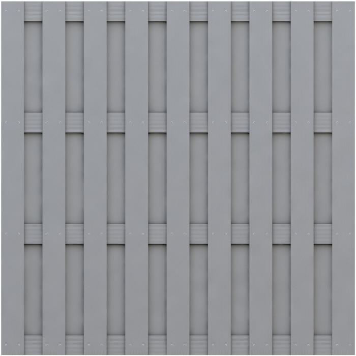 sichtschutz jumbo wpc grau 179x179cm von traumgarten ebay. Black Bedroom Furniture Sets. Home Design Ideas