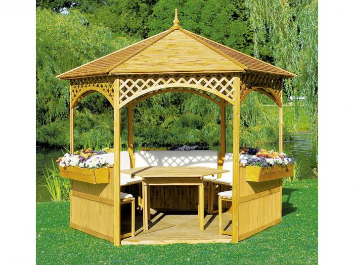 gartenhaus pavillon. Black Bedroom Furniture Sets. Home Design Ideas