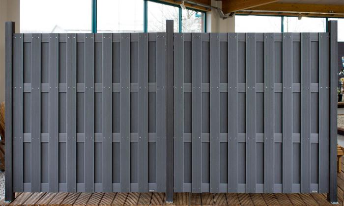 22274620170320_sichtschutzzaun grau kunststoff – filout, Terrassen ideen