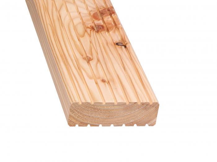 terrassen treppendiele douglasie 45x142mm beidseitig. Black Bedroom Furniture Sets. Home Design Ideas