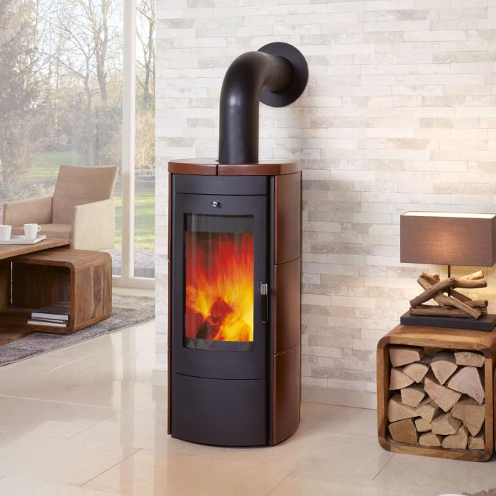 hark kaminofen tiamo jola braun 6 0 kw kamin fen. Black Bedroom Furniture Sets. Home Design Ideas
