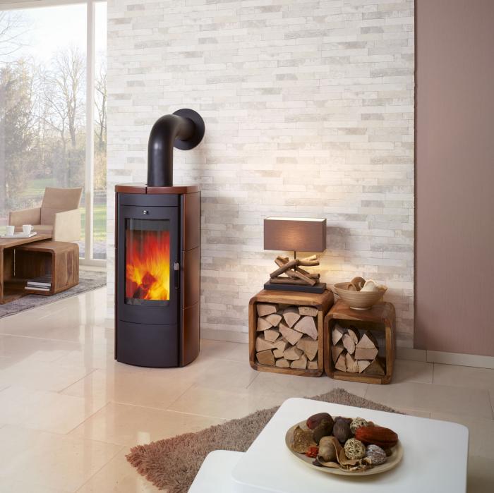 kaminofen tiamo jola braun von hark ebay. Black Bedroom Furniture Sets. Home Design Ideas