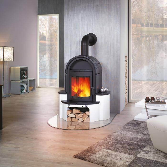 kaminofen wega negro von hark lagerware ebay. Black Bedroom Furniture Sets. Home Design Ideas