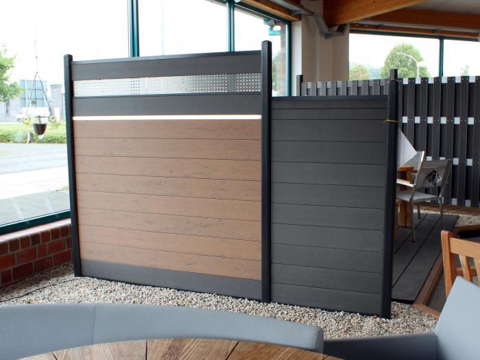 zaunanlage system wpc 10 zaun. Black Bedroom Furniture Sets. Home Design Ideas