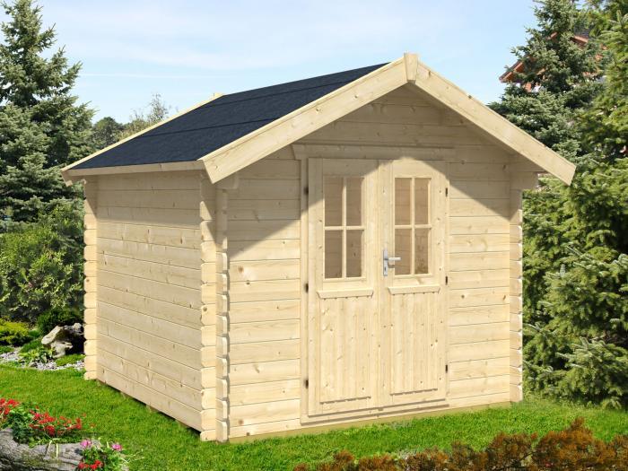 skanholz blockbohlenhaus palma ca b 250 x t 200cm gartenh user. Black Bedroom Furniture Sets. Home Design Ideas
