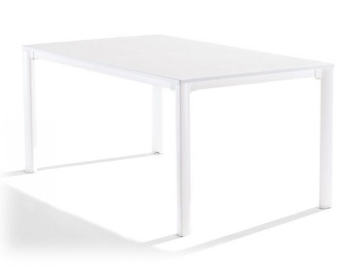 sieger gartentisch 165x95cm weiss weiss gartenm bel. Black Bedroom Furniture Sets. Home Design Ideas