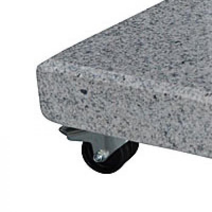 zangenberg rollen 4er set f r granit schirmst nder 90kg sonnenschutz zubeh r. Black Bedroom Furniture Sets. Home Design Ideas