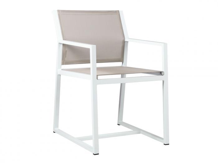 mamagreen allux sessel alu weiss taupe gartenm bel. Black Bedroom Furniture Sets. Home Design Ideas