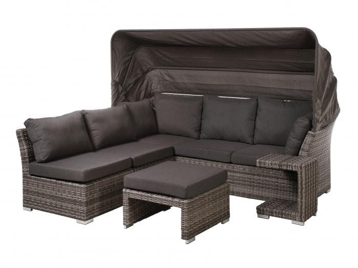 plo rocking lounge set mit dach und polstern ebay. Black Bedroom Furniture Sets. Home Design Ideas