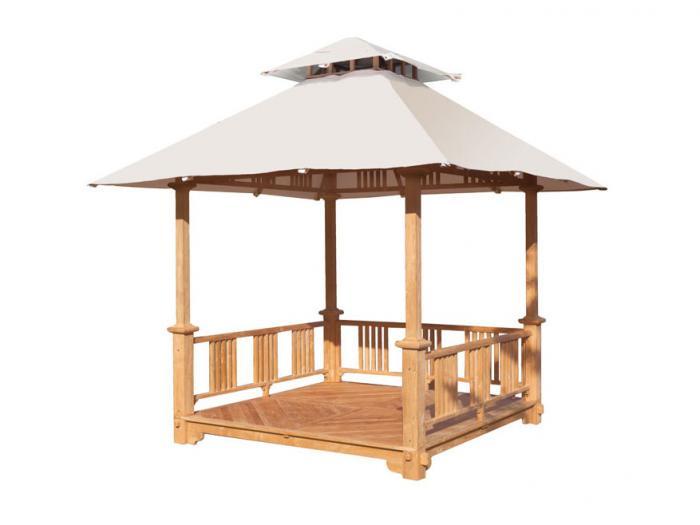 plo java pavillon 300 x 300cm aus teakholz gel nder teak holzboden ebay. Black Bedroom Furniture Sets. Home Design Ideas