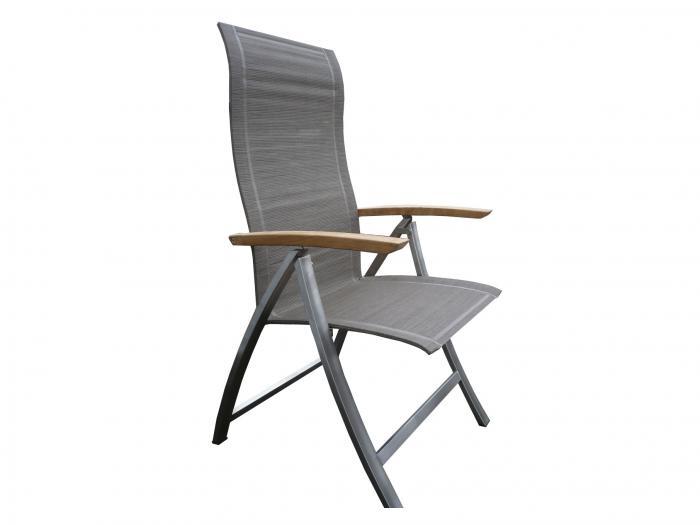 Gartenstühle hochlehner  4Seasons Slimm Hochlehner Edelstahl-Ash Grey   Gartenmöbel   MESEM.de