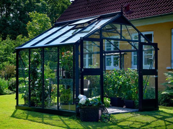 juliana gew chshaus premium 8 8 grau schwarz gew chsh user. Black Bedroom Furniture Sets. Home Design Ideas