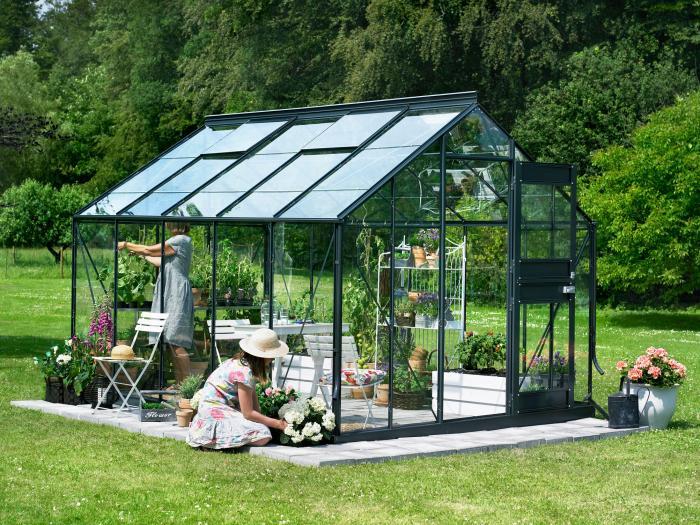 juliana gew chshaus compact plus 9 9 alu schwarz gew chsh user. Black Bedroom Furniture Sets. Home Design Ideas