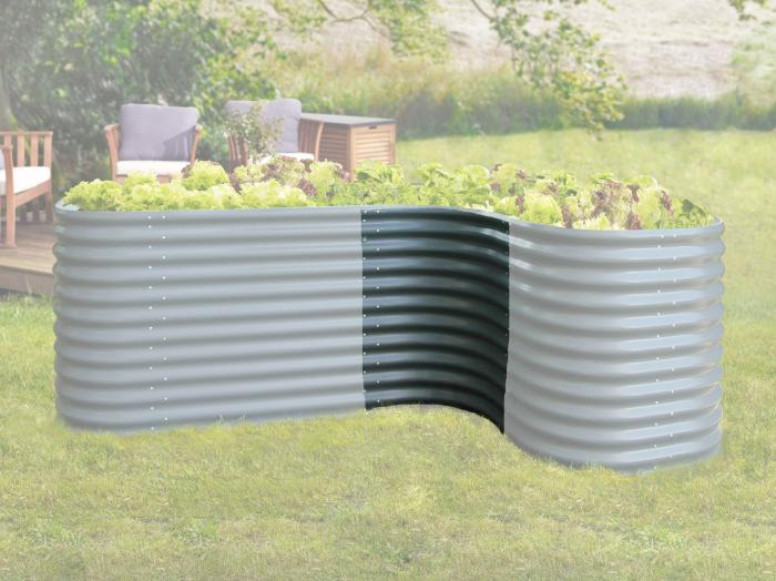 vitavia erweiterung hochbeet dunkelgrau curve pflanzenbeet. Black Bedroom Furniture Sets. Home Design Ideas