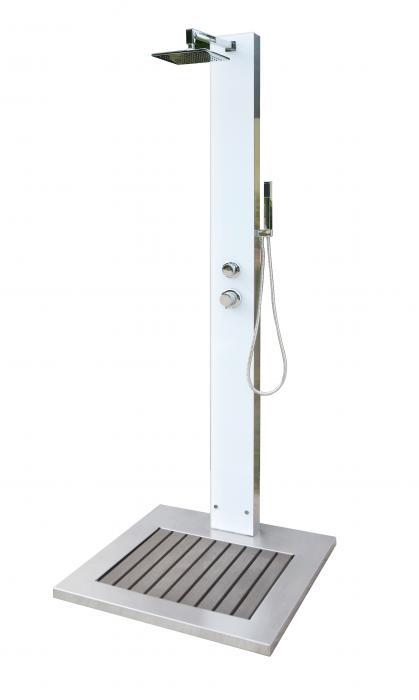ideal gartendusche tobago kalt und warmwasser pooldusche dusche au endusche ebay. Black Bedroom Furniture Sets. Home Design Ideas