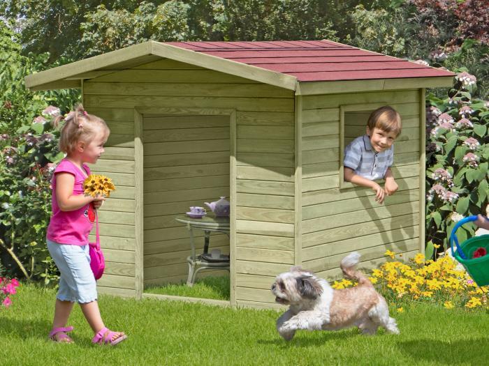kinderspielhaus classic henrik 150x150x123cm bausatz ohne. Black Bedroom Furniture Sets. Home Design Ideas