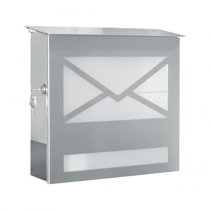 heibi briefkasten 43809 edelstahl ebay. Black Bedroom Furniture Sets. Home Design Ideas
