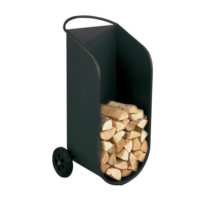 heibi kaminholzwagen 52312 028 schwarz glimmer holzwagen holzkorb brennholzwagen ebay. Black Bedroom Furniture Sets. Home Design Ideas