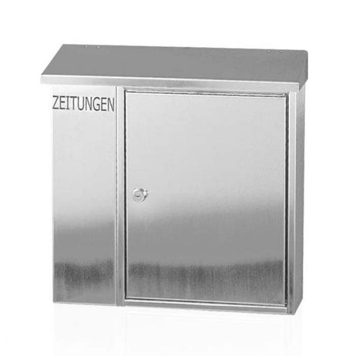 heibi edelstahl briefkasten geschliffen mit zeitungsfach 43661 aktion ebay. Black Bedroom Furniture Sets. Home Design Ideas