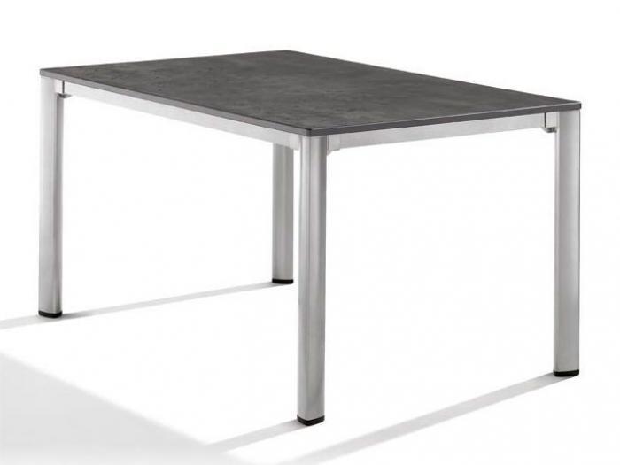 sieger gartentisch 140x90cm graphit beton dunkel gartenm bel. Black Bedroom Furniture Sets. Home Design Ideas