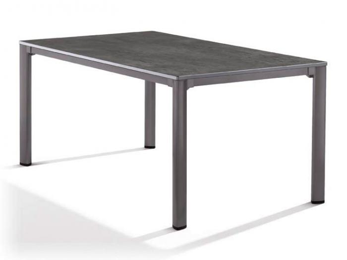 sieger gartentisch 165x95cm eisengrau beton dunkel. Black Bedroom Furniture Sets. Home Design Ideas