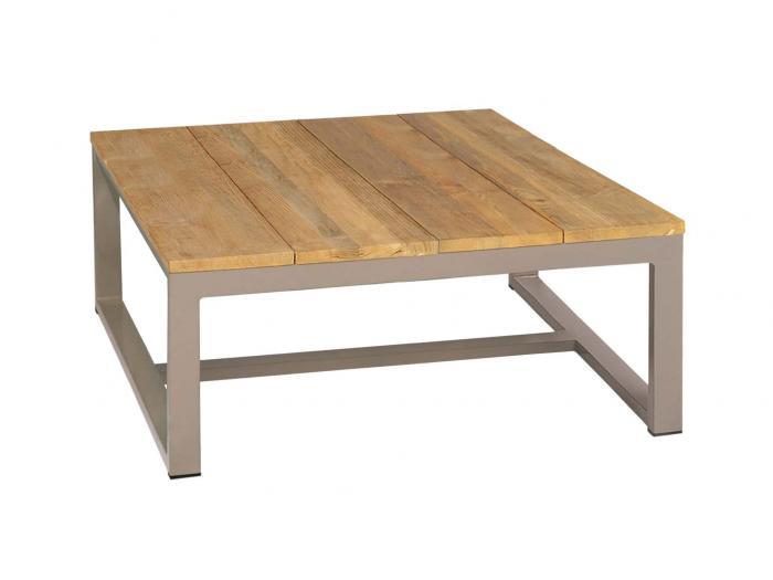 mamagreen mono kaffeetisch 73x73cm alu taupe teak gartenm bel. Black Bedroom Furniture Sets. Home Design Ideas
