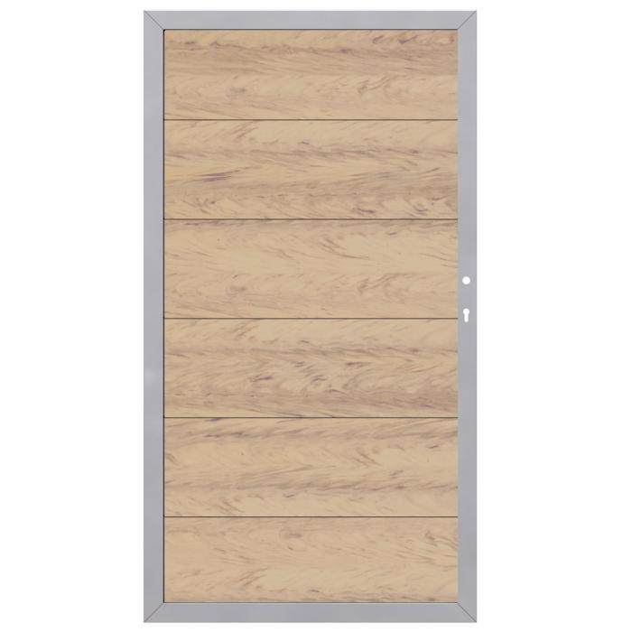 design wpc alu sand tor 2443 din rechts zaun. Black Bedroom Furniture Sets. Home Design Ideas
