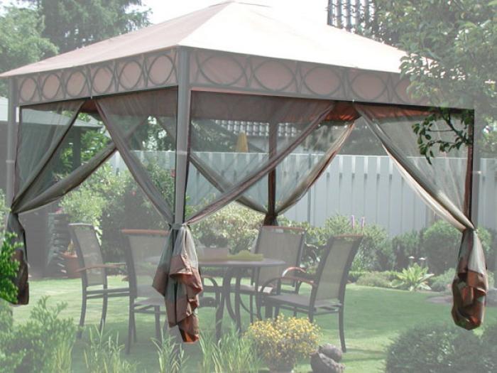 4er set moskitonetze f r leco pavillon safari ebay. Black Bedroom Furniture Sets. Home Design Ideas