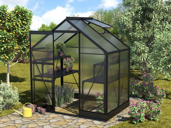 vitavia gew chshaus apollo 2500 alu schwarz hkp 4mm. Black Bedroom Furniture Sets. Home Design Ideas