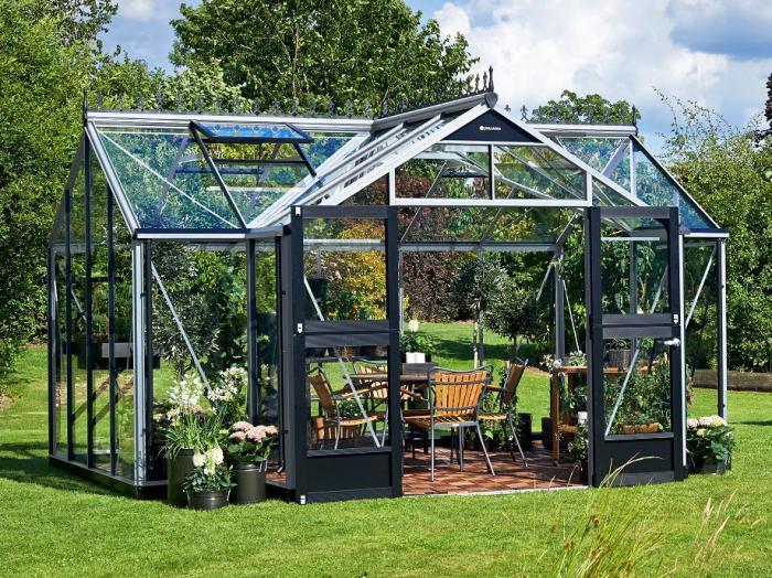 juliana gew chshaus orangerie 15 2 alu schwarz. Black Bedroom Furniture Sets. Home Design Ideas
