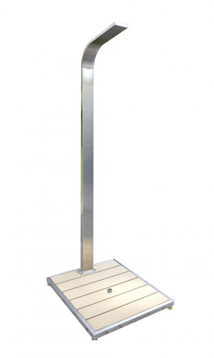 Ideal gartendusche ibiza kaltwasserdusche dusche for Gartendusche bodenplatte