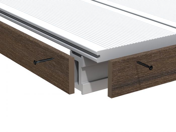 dreamdeck platinum wpc abschlussleiste 2113 10x62mm braun holz. Black Bedroom Furniture Sets. Home Design Ideas
