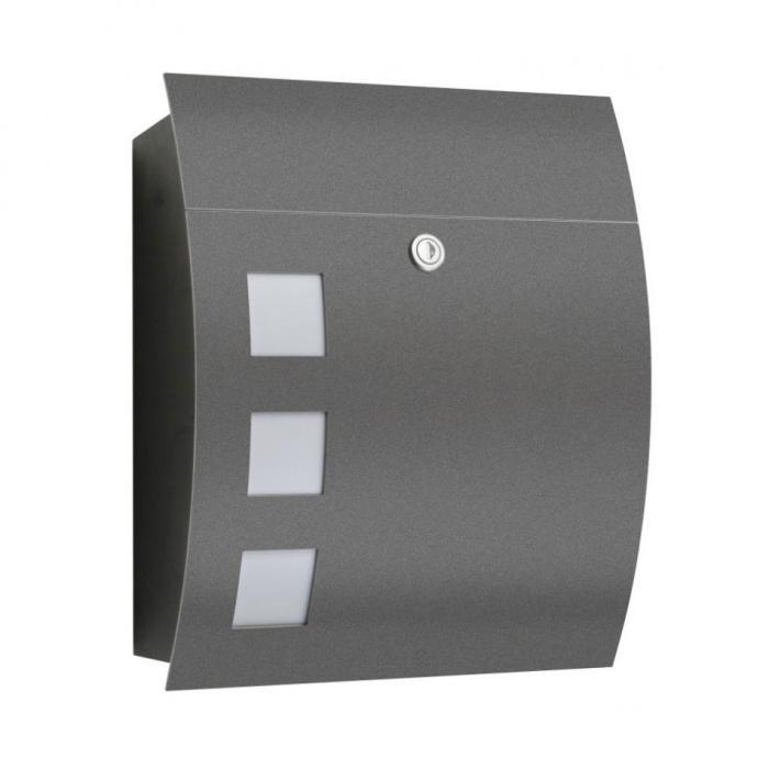 cmd briefkasten 76 anthrazit ebay. Black Bedroom Furniture Sets. Home Design Ideas