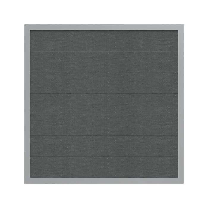 groja viento wpc zaun ziegelgrau 180x180cm ziegelgrau nur abholung m glich ebay. Black Bedroom Furniture Sets. Home Design Ideas