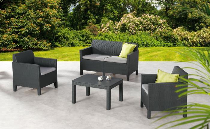 best lounge set amalfi 4 teilig klein gartenm bel. Black Bedroom Furniture Sets. Home Design Ideas