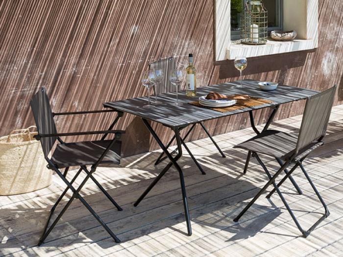 Lafuma Anytime Tisch 110x68cm Volcanic - Noir 8232 | Gartenmöbel ...