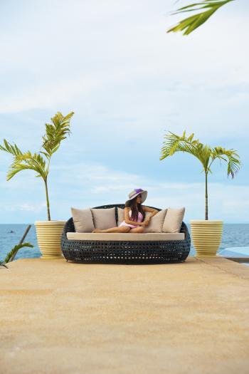 alexander rose ocean daybed rund mit kissen gartenm bel. Black Bedroom Furniture Sets. Home Design Ideas