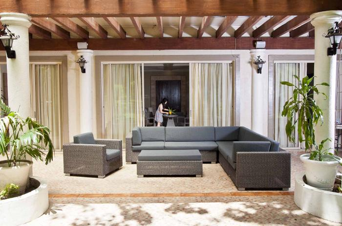 alexander rose monte carlo lounge sofa grau gartenm bel. Black Bedroom Furniture Sets. Home Design Ideas