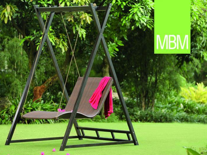 mbm heaven swing doppelliege tobacco 254231 gartenm bel. Black Bedroom Furniture Sets. Home Design Ideas