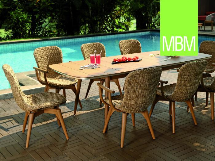 mbm iconic ausziehtisch 180 240 x 100cm 376983 gartenm bel. Black Bedroom Furniture Sets. Home Design Ideas