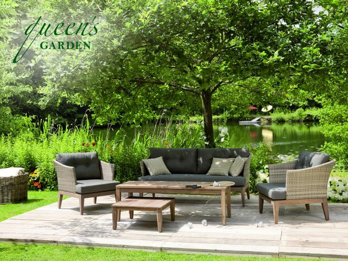 Gartenmobel Set Vase : Queens Garden Accento Loungetisch 62 x 62cm 981606  Gartenmöbel